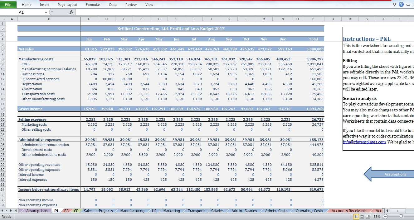 Dorable construction cash flow template vignette example for Construction disbursement schedule