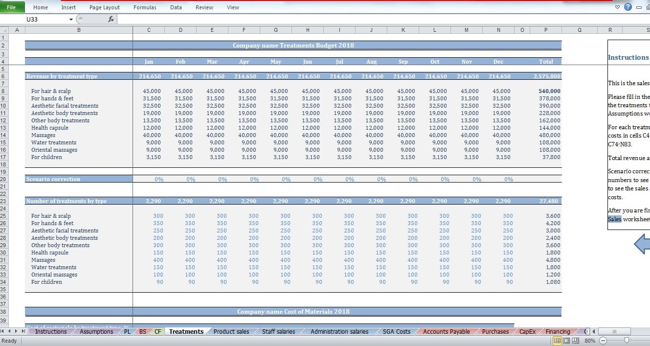 Worksheets Salon Budget Worksheet beauty salon budget template cfotemplates com get control of your salons financials