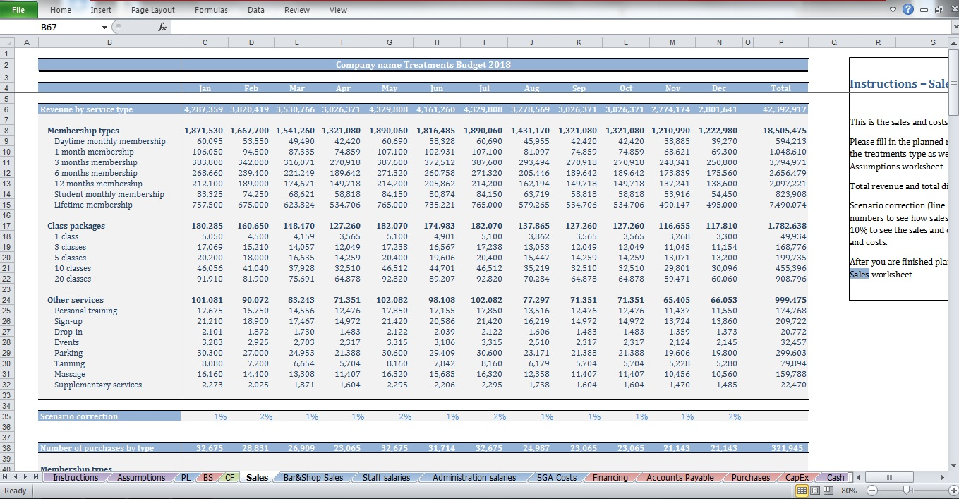customizable budget worksheet