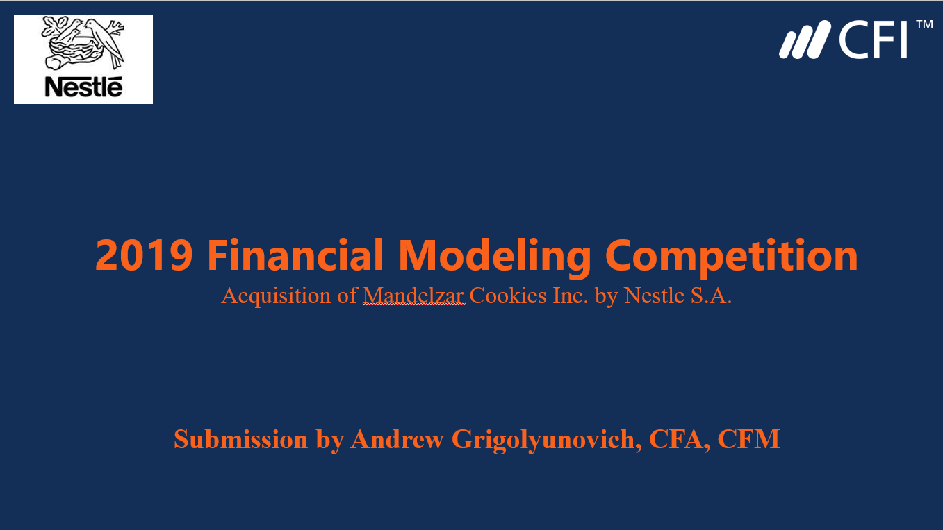Financial Modeling Case Competition Submission Title Page
