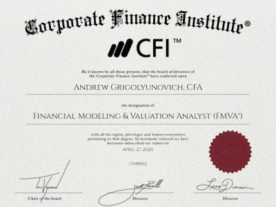 FMVA Review - Certificate